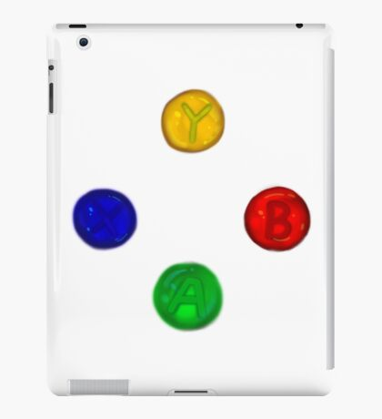 x box buttons iPad Case/Skin