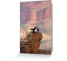 Grand Canyon Ravens Greeting Card