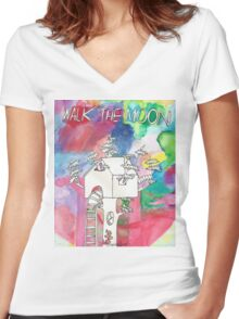 Walk the Moon  Women's Fitted V-Neck T-Shirt