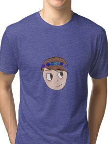 Dan With Flower Crown Tri-blend T-Shirt