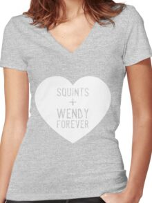 squints+wendy forever  Women's Fitted V-Neck T-Shirt