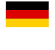 German Flag; Federal Republic of Germany Bundesrepublik Deutschland by TOM HILL - Designer