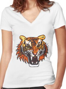 Tiger 2 Women's Fitted V-Neck T-Shirt
