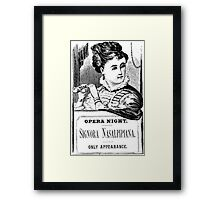 Opera Night Framed Print