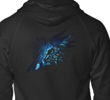 Eagle Space Abstract Zipped Hoodie