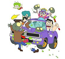 Zombie Car Rampage Photographic Print