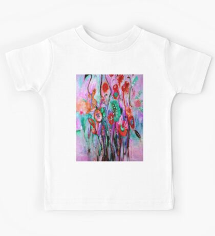 """ABSTRACT PSYCHEDELIC FLOWERS"" Whimsical Print Kids Tee"