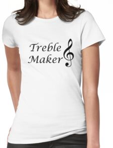 Funny Music Design Womens Fitted T-Shirt