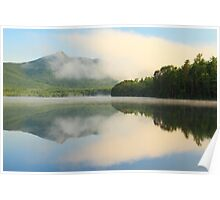 Cloud and Mountain Landscape reflections on White Lake Poster