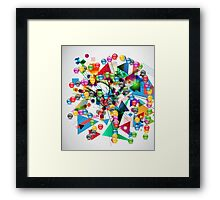 Ball&triangle Framed Print