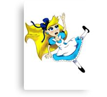 Alice Falling Canvas Print