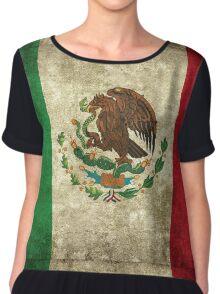 Mexican Flag - Grunge Chiffon Top