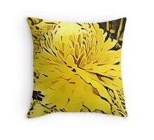 Golden Torch Throw Pillow