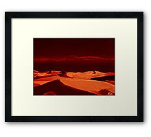 Dunes at nightfall Framed Print