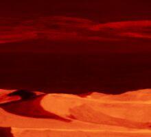 Dunes at nightfall Sticker
