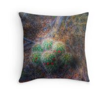 Sandia Mountain cactus hdr Throw Pillow