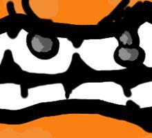 Orange Lips Sticker