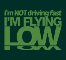 I'm not driving fast – I'm flying low (6) by PlanDesigner