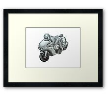 Motorcycle Racer Framed Print