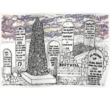 Boot Hill in Tombstone, Arizona Poster