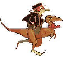 Gentleman Dinosaur Duelist #2 Photographic Print