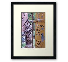 I Remember You From The Future: Weeping Angels Framed Print