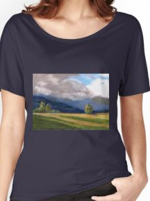 Stormy day over the Liverpool Ranges  Women's Relaxed Fit T-Shirt