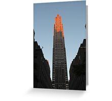 Skyscraper in Pink: 30 Rock, NYC Greeting Card