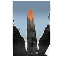 Skyscraper in Pink: 30 Rock, NYC Poster