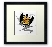 Trickster Raven with Sun Framed Print