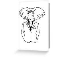 Elephant In a Tux Greeting Card