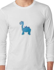 Blue dinosaur Long Sleeve T-Shirt