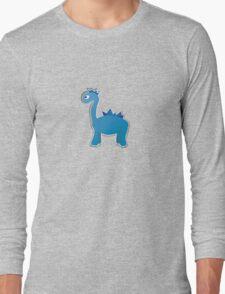 Blue dinosaur Long Sleeve T-Shirt