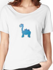 Blue dinosaur Women's Relaxed Fit T-Shirt