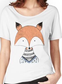 Hand Drawn Fox Women's Relaxed Fit T-Shirt