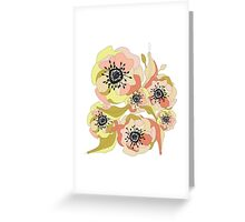 Abstract Elegance Seamless pattern. Floral background Greeting Card
