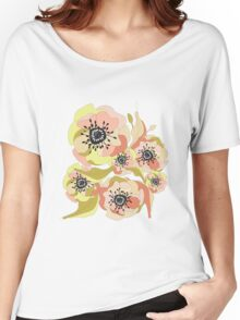 Abstract Elegance Seamless pattern. Floral background Women's Relaxed Fit T-Shirt