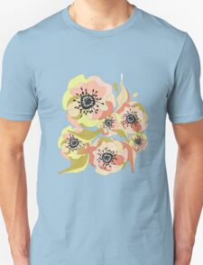 Abstract Elegance Seamless pattern. Floral background Unisex T-Shirt