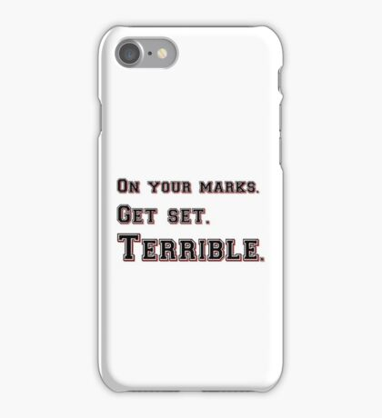 Marks, Set, Terrible iPhone Case/Skin