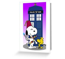 snoopy doctorwho Greeting Card