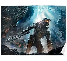 Halo Master Chief Guardians  Poster