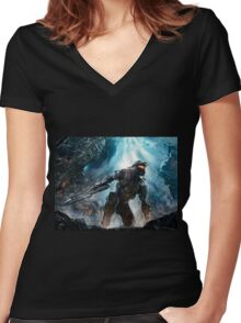Halo Master Chief Guardians  Women's Fitted V-Neck T-Shirt