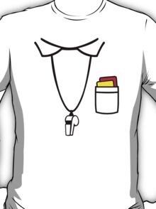 Referee red yellow card whistle T-Shirt
