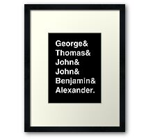 Founding Fathers (Hamilton included) - white Framed Print