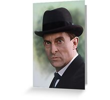 The Bohemian Holmes - Jeremy Brett (Card) Greeting Card