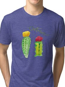 Watercolor cactus Tri-blend T-Shirt
