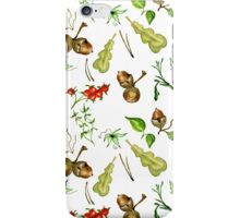 Botanical watercolor seamless pattern. iPhone Case/Skin