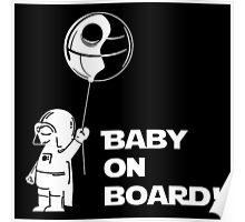 Baby On Board White Poster