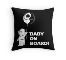 Baby On Board White Throw Pillow