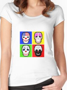 Payday 2 Masks Women's Fitted Scoop T-Shirt